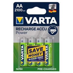 VARTA Power επαναφορτιζόμενη μπαταρία 43462, 2100mAh AA HR6 Mignon, 4τμχ 43462