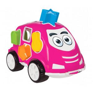 JAMARA Εκπαιδευτικό αυτοκίνητο εκμάθησης σχημάτων 460292, ροζ 460292