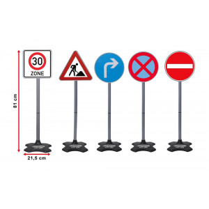 JAMARA Σετ Σήματα οδικής Κυκλοφορίας 460293, 5τμχ 460293