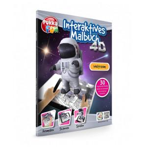 PUKKA FUN Βιβλίο ζωγραφικής 4D επαυξημένης πραγματικότητας, Space 460320