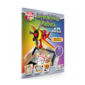 PUKKA FUN Βιβλίο ζωγραφικής 4D επαυξημένης πραγματικότητας, Race Day 460322