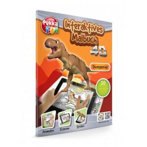 PUKKA FUN Βιβλίο ζωγραφικής 4D επαυξημένης πραγματικότητας, Dinosaurs 460323