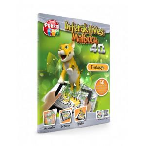 PUKKA FUN Βιβλίο ζωγραφικής 4D επαυξημένης πραγματικότητας Animal Babies 460324