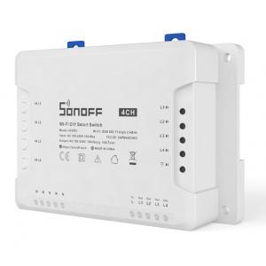 SONOFF Smart Διακόπτης WiFi 4CH R3, 4 θέσεων, 16A, λευκός 4CHR3
