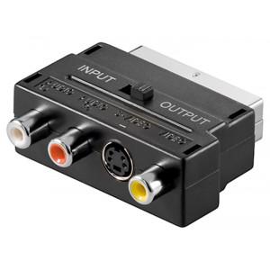 GOOBAY αντάπτορας SCART 21-pin αρσενικό σε 3x RCA θηλυκό 50123, μαύρο 50123