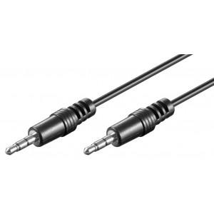 GOOBAY καλώδιο ήχου 3.5mm 51661, 3 pin stereo, copper, 10m, μαύρο 51661