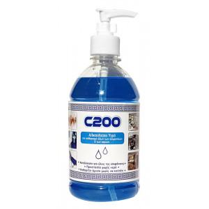 Αλκοολούχο υγρό επιφανειών & χεριών C200, 500ml 5200130470208