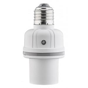 GOOBAY αντάπτορας λάμπας Ε27 55500, με αισθητήρα ήχου & φωτός, λευκός 55500