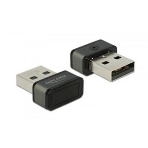 DELOCK USB Type-A Fingerprint Scanner για Windows 10 Hello 62963