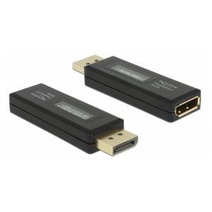 DELOCK DisplayPort tester 63338 για EDID πληροφορίες, με OLED οθόνη 63338