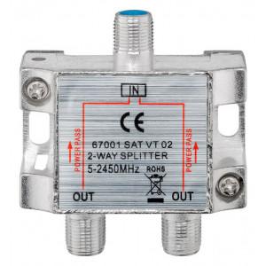 GOOBAY SAT-splitter 67001, 2-way, 5-2450MHz, 7.5 dB 67001