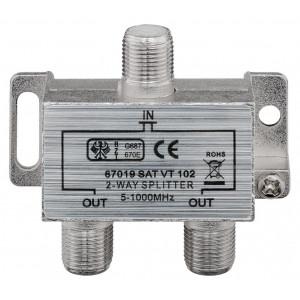 GOOBAY CATV splitter 67019, 2-way, 5 MHz - 1000 MHz, 3.7 dB 67019