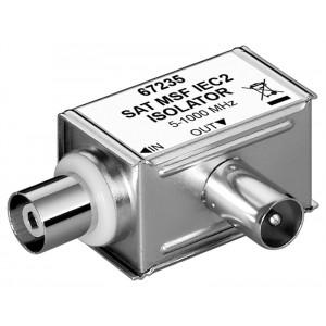 GOOBAY SAT isolator 67235, γωνιακό, 5MHz - 1000MHz, ασημί 67235