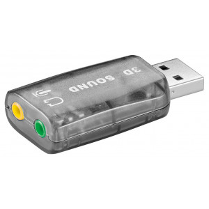 GOOBAY USB κάρτα ήχου 68878, με έξοδο μικρόφωνου και ακουστικού 68878