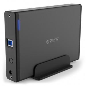 ORICO εξωτερική θήκη για 3.5 HDD 7688U3, USB3.0, 5Gbps, 12TB, μαύρη 7688U3-EU-BK-BP