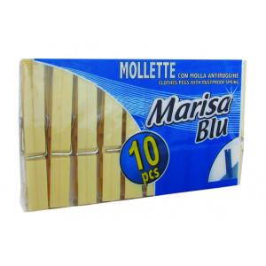 MARISA BLU πλαστικά μανταλάκια ρούχων, μπεζ, 10τμχ 8002120406337