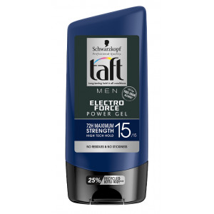 SCHWARZKOPF TAFT MEN power gel μαλλιών Electro force, No15/15, 150ml 8015700157369