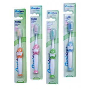 ORALDENT παιδική οδοντόβουρτσα 2096 με καπάκι, μαλακή, ποικιλία χρωμάτων 8028696256862