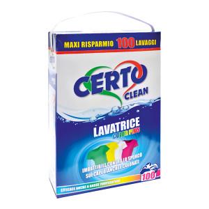 CERTO απορρυπαντικό πλυντηρίου σε σκόνη Classic, 100 μεζούρες, 6.3kg 8053323960560