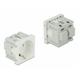 DELOCK module πρίζας ρεύματος Easy 45 81320, 45x45mm, 10τμχ 81320