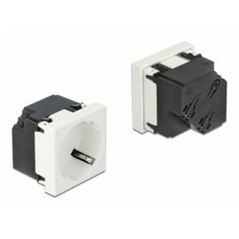 DELOCK module πρίζας ρεύματος Easy 45 81321, 45°, 45x45mm, 10τμχ 81321