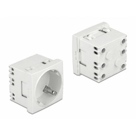 DELOCK module πρίζας ρεύματος Easy 45 81324, 45°, 45x45mm, 10τμχ 81324
