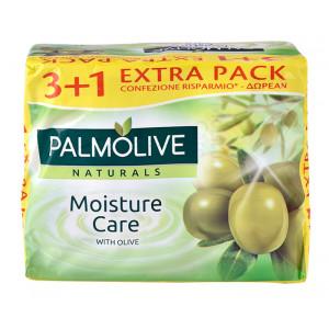 PALMOLIVE σαπούνι Moisture care, με εκχύλισμα ελιάς, 4x 90g 8693495053792