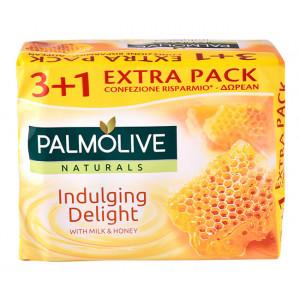 PALMOLIVE σαπούνι Indulging delight, με γάλα & μέλι, 4x 90g 8714789699172