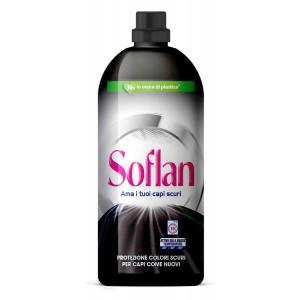 SOFLAN υγρό απορρυπαντικό για σκούρα ρούχα, 15 μεζούρες, 900ml 8718951219175
