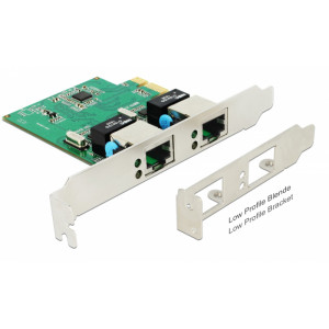DELOCK PCI Express Card σε 2x Gigabit LAN 89999, έως 1000 Mbps 89999