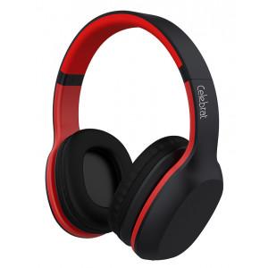 CELEBRAT Bluetooth headphones A18-BKRD, wireless & wired, μαύρο-κόκκινο A18-BKRD