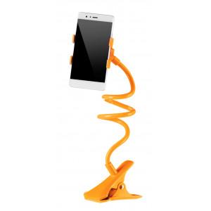Universal Βαση σιλικονης για Smartphone, clip holder, flexible, Orange
