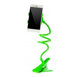 Universal Βαση σιλικονης για Smartphone, clip holder, flexible, Green