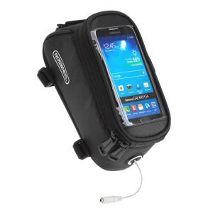 ROSWHEEL Τσάντα ποδηλάτου με θήκη τηλεφώνου, αδιάβροχη, Black ACC-024