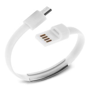 USB Καλώδιο φόρτισης wristband σε Micro USB, White ACC-027
