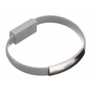 USB Καλώδιο φόρτισης wristband σε Micro USB, Gray ACC-028