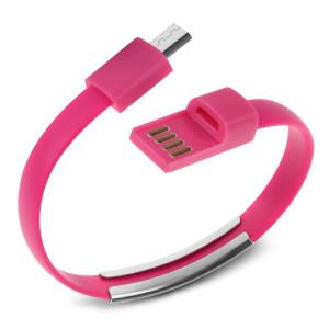 USB Καλώδιο φόρτισης wristband σε Micro USB, Pink ACC-029