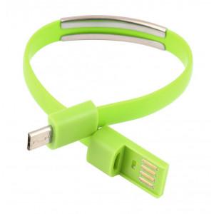 USB Καλώδιο φόρτισης wristband σε Micro USB, Green ACC-071