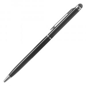 Ballpoint στυλο με επιστρωμα για οθονη αφης και clip τσεπης, μαυρο ACC-144