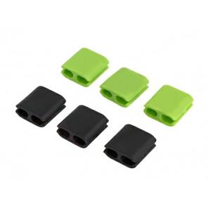Οργανωτής καλωδίων σιλικόνης ACC-217, μαύρο-πράσινο ACC-217