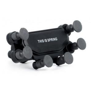Βάση αεραγωγού αυτοκινήτου για smartphone ACC-242, μαύρη ACC-242