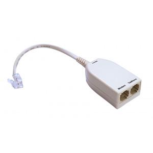 POWERTECH ADSL Splitter με φίλτρο ADSL-05, μπεζ ADSL-05