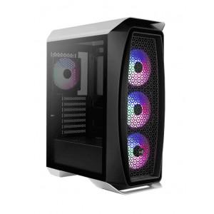 AEROCOOL PC case mid tower Aero One Frost, 195x461x411mm, 4x fan, λευκό AEROONEFROST-G-WT-V1