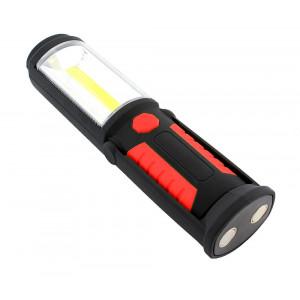 Φακός εργασίας AG121C με εμπρόσθιο & πλαϊνό LED, μαγνητική βάση, κόκκινο AG121C