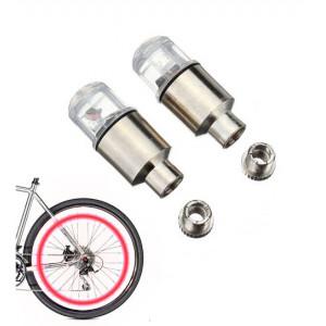 Καπάκι βαλβίδας ποδηλάτου με φως, 2 τμχ, κόκκινο AG190A