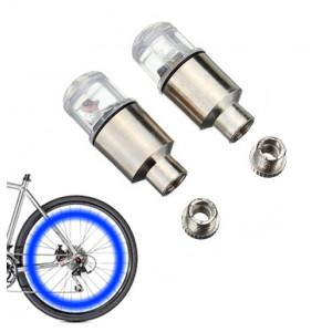 Καπάκι βαλβίδας ποδηλάτου με φως, 2 τμχ, μπλε AG190B