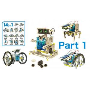 Εκπαιδευτικό robot kit AG211B, 14 σε 1, Ηλιακό AG211B