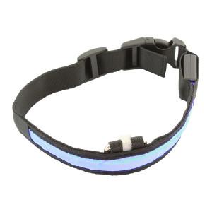 Περιλαίμιο σκύλου AG232A με φωτισμό LED, 34-44cm, μαυρο/μπλε AG232A