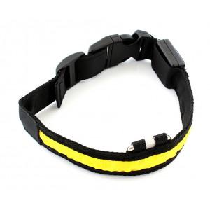 Περιλαίμιο σκύλου AG232B με φωτισμό LED, 34-44cm, μαυρο/κίτρινο AG232B