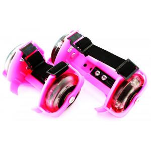 Φωτιζόμενα rollers παπουτσιών AG234, 3x LED, universal, 6-9.5cm, ροζ AG234